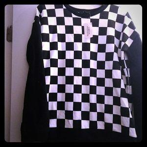 Brand New Vans Checkerboard Sweatshirt Large